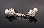 Ohrringe mit handgefertigten Glasperlen mit echt Silber 925