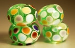 Dot-Beads, 4er Set (Durchm. ca.15mm).
