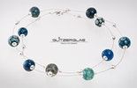 Lange Halskette mit verschiedenen DoubleHelix Glasperlen Bestellung aus Basel