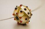 Muranoglas-Perle (Durchm. ca.18 mm). (gehört jetzt Brigitte auch eine Perlen-Verrückte;-) )