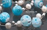 Glasperlen-Halskette Bild 2 von 2