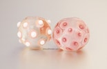 Zartrosa Klarglas-Perlen in sanften rosa Tönen