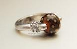 Brownie Ring mit CIM-Glas-Perle