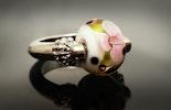 """""""Dream Flower"""" Fingerring mit Muranoglasperle (Für Corinne/Frick)"""