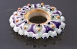 """""""Glücksrad"""" aus Murano- & CIM-Glas kann mit dünnem Leder- o. Stoffband getragen werden"""